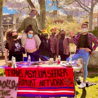 tabling at Abolition Fest last spring.